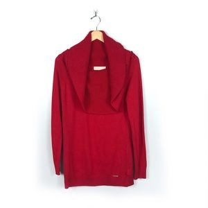 Michael Kors NWT Red Cowl Neck Sweater